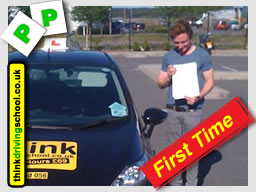 passed with think driving school lessons