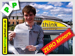 Alex from Alton passed with think driving school with ZERO minors