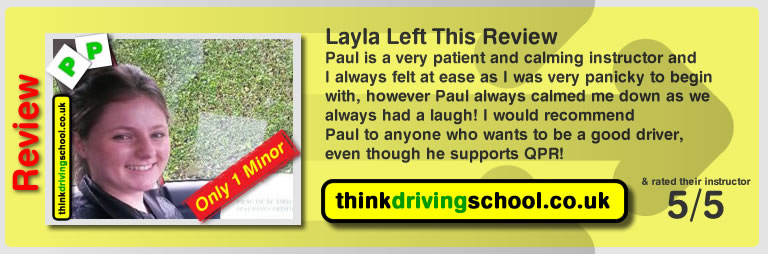 layla passed with paul power in watford