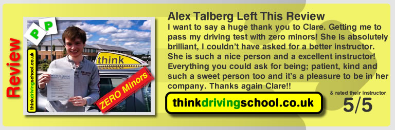 Left this review after he passed with Stuart Webb driving instructor in Farnham