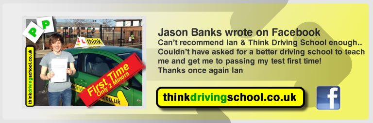 jason banks passed with driving instructor ian weir and lef this awesome review of think driving school