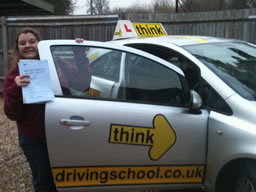 charlotte haslemere  happy with think driving school