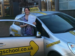 lucy rowlands castle  happy with think driving school