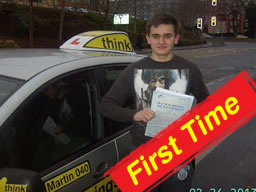 john from farnborough passed firs time with martin hurley ADI