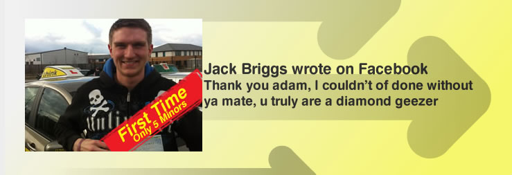 joe briggs left this awesome review of adam iliffe from high wycombe driving school