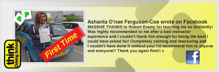 Ashanta D'nae Ferguson-coe Passed with think drivnig school and left this awsome review of robert evamy