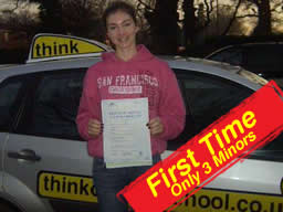 rebecca passed after drivng lessons in farnborough with martin hurley ADI