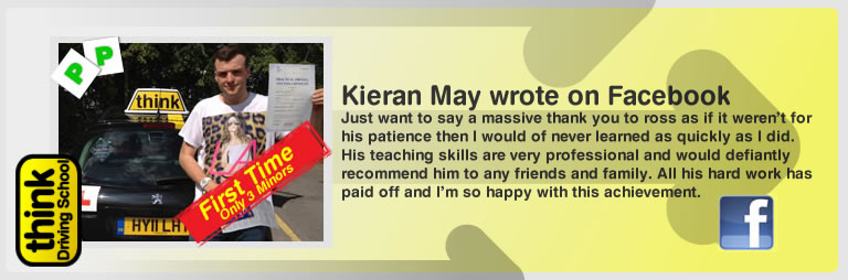 Kieran May a 5 star review of think driving school