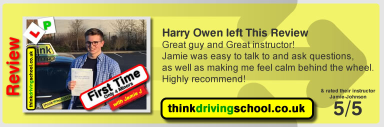 Samantha left this awesome review of think drivng school