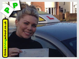 chloe from bracknell passed with think driving school