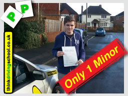 mark from fleet passed first time with think driving school