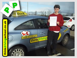 bhuan from guildfrod passed with jamie c at think driving school
