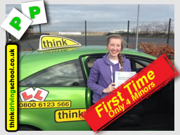 Becca from Bordon passed with drivnig instructor from alton ian weir ADI