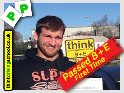dom from newbury passed his B+E trailer test with adam iliffe