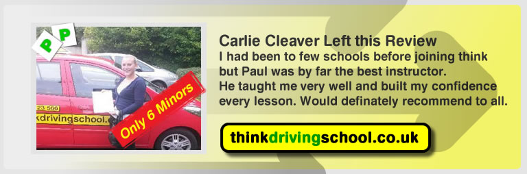 Carlie Cleaver passed with driving instructor Paul Power and lef this awesome review of think driving school