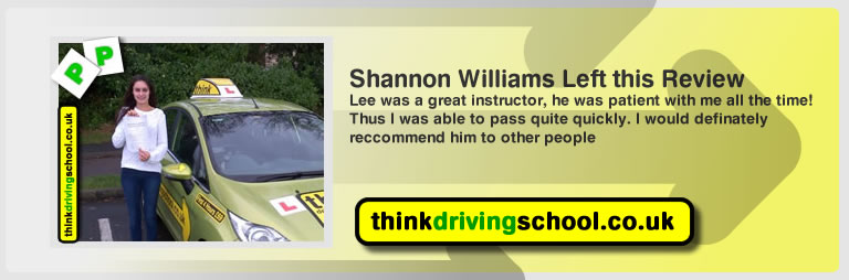 shannon williams from fareham left this review of driving instructor in fareham lee patterson