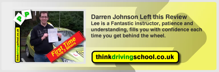 darren johnson from fareham left this review of driving instructor in fareham lee patterson