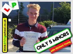 First time pass with richard young from Farnham driving school