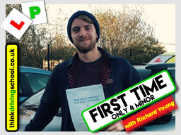 passed with richard young from Farnham driving school in January 2018