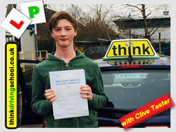 driving lessons Guildford Clive Tester think driving school March 2018
