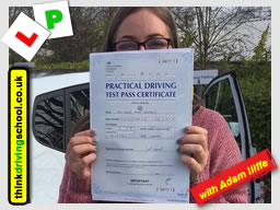 passed in High Wycombe with driving instructor Adam Iliffe March 2018