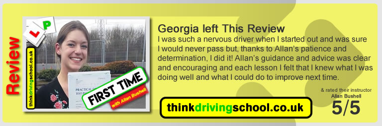 Beth Warden Wrote this awesome review of allan bushell driving instructor from Sandhurst & Camberley