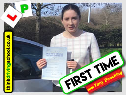 This Happy learner from Broseley passed after driving lessons with Tony Beeching