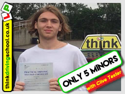 driving lessons Guildford Clive Tester think driving school October 2017