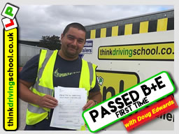 This guy passed his B+E test FIRST TIME with Doug Edwards from Hampshire