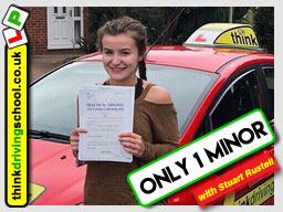 Passed with think driving school in August 2018 and left this 5 star review