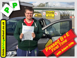 driving lessons Maidenhead  Adam Iliffe think driving school B+E