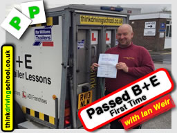 B=E First time passed with driving instructor ian weir and left this awesome review of think driving school