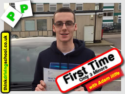 passed in High Wycombe with driving instructor Adam Iliffe in February 2016