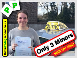 Romy passed with ian weir driving instructor in alton