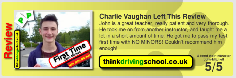 driving lessons Bracknell John Mitchell think driving school