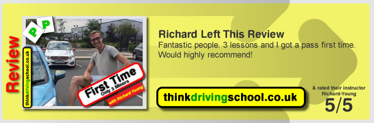 Alice Fawcett  passed with richard young from Farnham driving school