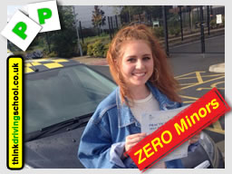 passed with think driving school with ZERO minors