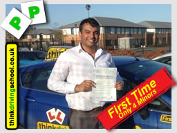 Passed with think driving school in Decemeber 2014