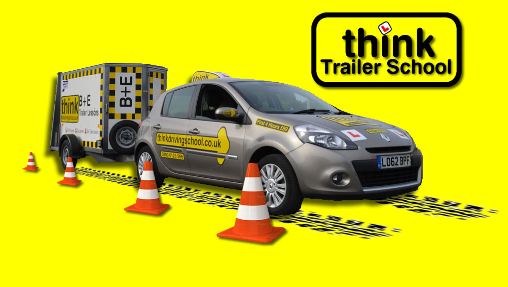 B+E Trailer lessons at think driving school high wycombe