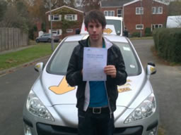 aaron headley  happy with think driving school