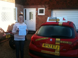 Lil bordon happy with think driving school