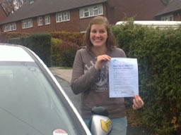 lucy haslemere  happy with think driving school