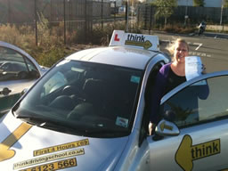kelly petersfield  happy with think driving school