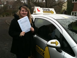 olivia petersfield  happy with think driving school